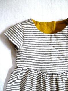 Organic Cotton and Hemp Striped Dress - Harriets Haberdashery