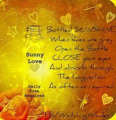 Sunshine quote via www.Facebook.com/WatchingWhales