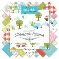 PRE-ORDER Glamper-licious Half Yard Bundle by Samantha Walker for Riley Blake Designs