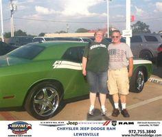 #HappyAnniversary to Jerry Stevens Karen Stevens on your 2011 #Dodge #Challenger from Ruben Cantu at Huffines Chrysler Jeep Dodge Ram Lewisville!