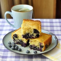 Blueberry Snack Cake - a.k.a. Baked Newfoundland Blueberry Duff