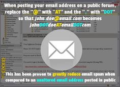 safety tech tip  - anti spam for e-mail address