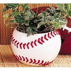 Amazon.com: Ceramic Baseball Planter Great for Kids Room,Sports Fans and Home and Office Decor: Patio, Lawn & Garden