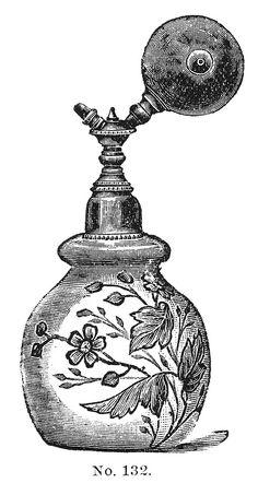 victorian perfume bottle illustration