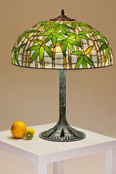 Tiffany stained glass Bamboo lamp. Stained glass handmade lampshade. Tiffany replica lamp bestseller.