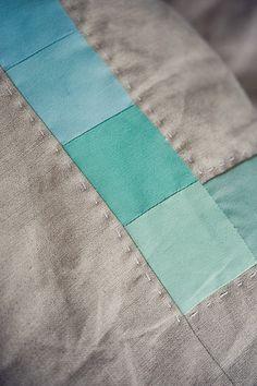 Aqua and linen.  Perfect.