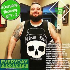 """As a part of #NationalRecoveryMonth #recoverymonth we are joining on for the #everydayrecovery campaign with @FacesandVoicesofRecovery organization for a very specific reason (more info to come soon on bigger things)... so for now here is my story on why I choose everyday recovery...   """"I'm @Brianmccollom and I choose to live my recovery everyday because each day breath and chance I have at freedom is a miracle. I'm proud to be a part of FacesandVoicesofRecovery.org campaign because for me…"""