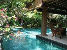 I travel to Bali regularly and am always on the lookout for beautiful villas to stay in - Villa Des Indes pool