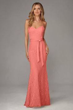 #BridesmaidDresses. Style 127 in #coral. Mori Lee