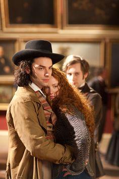 Aidan turner as dante gabriel rossetti and his wife model for Rossetti vernici e idee