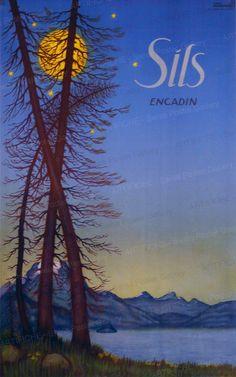 Sils Rinderspacher Ernst Fürstentum Liechtenstein, Party Vintage, Illustrator, Vintage Ski Posters, Sils Maria, Swiss Travel, Tourism Poster, Travel Expert, Journey