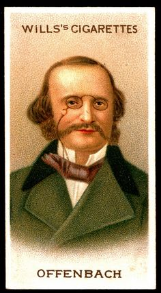 """Cigarette Card. Jacques Offenbach. """"Musical Celebrities A Series"""""""