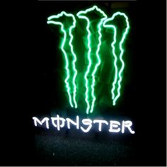 MONSTER ENERGY NEON SIGN..one day for his man cave