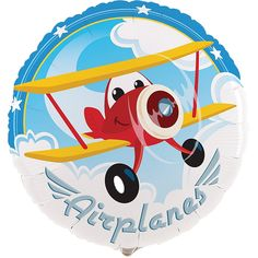 "Airplane Adventure 18"" Foil Balloon from BirthdayExpress.com"