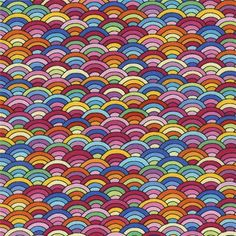 colorful scale wave pattern fabric by Timeless Treasures  1