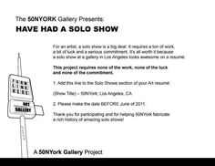 Have Had A Solo Show