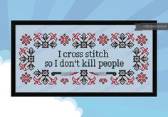 I cross stitch Quote PDF cross stich pattern by cloudsfactory