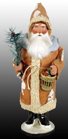 1017: 1900 German Christmas Candy Container Santa : Lot 1017