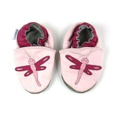 Robeez for girls, Robeez for babies, leather shoes for babies, dragonfly shoes