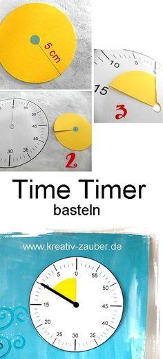 Time Timer Basteln Basteln Uhr Lernen Kinder Selber Basteln