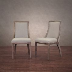 Park Avenue Beige Linen Dining Chairs (Set of 2) | Overstock.com Shopping - Great Deals on Dining Chairs