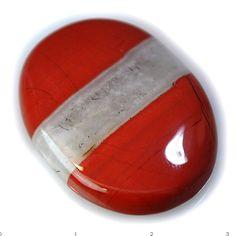 55Ct UNIQUE Natural Red River Jasper (34mm X 25mm) Cabochon