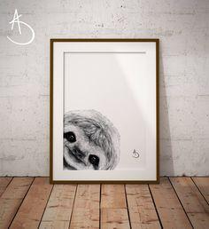 Sloth Drawing, Sheep Drawing, Stock Photo Websites, Sheep Art, Photo Store, Nursery Letters, Typography Art, Minimalist Art, As You Like