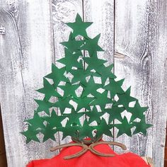Rustic decor metal star christmas tree      From RustinRose on Etsy.com   (I want to try this out of cardboard...)