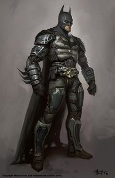 Concept art of Batman from Injustice: Gods Among Us by Hunter Schulz