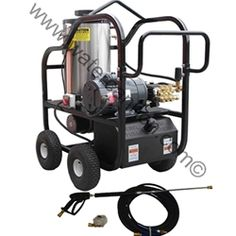 Hot Water Pressure Washer  -Commercial Industrial Duty Grade Motor 6.0HP-Electric-Portable-AR/GP-3.2 to 3.5GPM-3000 to 4000PSI.• 8 gallon poly diesel fuel tank with fuel filter • Commercial/Industrial grade motors• Low speed pump w/ thermo-sensor (prevents over heating in bypass mode) • 12' power cord (no plug) • 118 Degree Temperature Rise - Maximum 210 Degree F MODEL 18M31