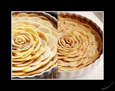Look at this apple tart topped with a gorgeous apple rosette!