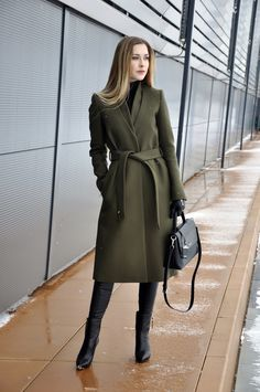 Karina in Fashionland Winter Coat Outfits, Winter Outfits Women, Fall Outfits, Fashion Outfits, Office Outfits Women, Stylish Dresses For Girls, Long Winter Coats, Blazers, Online Fashion Stores