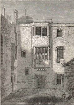 The Savoy, a palace, hospital for the poor, prison and barracks before it was demolished for the approach to Waterloo Bridge.