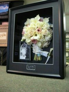 This idea would be beautiful BUT so sad I can't make it my wedding bouqet went missing after my reception !