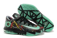 """NBA All Star Game (ASG) """"NOLA Gumbo League"""" KD 6 Illusion Multi-Color With Green Glow Basketball Shoes"""