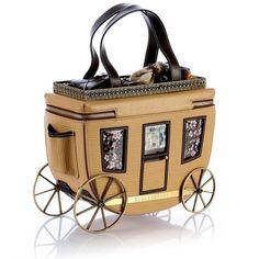 Stage Coach Handbag by Braccialini Unique Handbags, Unique Purses, Unique Bags, Cute Purses, Coach Handbags, Coach Purses, Purses And Handbags, Coach Bags, Brown Handbags
