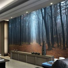 Black Forest Germany Night Full Wall Mural Photo Wallpaper Print Home 3D Decal | eBay