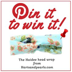 1. Follow us at www.pinterest.com/hartsandpearls 2. Pin our 'Pin It To Win It' image. 3. Pin a minimum of 2 of your favorite pins from @hartsandpearls and enter #hartsandpearls in the pin description. Extra Pins = additional entries. +Winner randomly selected on Apr. 15. * This contest is not affiliated with Pinterest