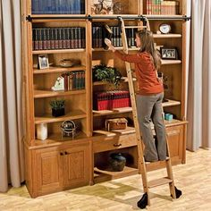 Diy Library Ladder Why Spend 1 000 Or More On A Vintage Style When