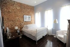Brick walls are mostly associated with masculine spaces but it can be great idea for feminine spaces too. Brick walls bring industrial chic to shabby chic and vintage look; you can experiment by having a single wall or whole room in brick