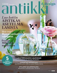 Antiikki & Design 1/2016 kansi. Magazine Cover. Photo Pia Inberg, style Irene Wichmann.