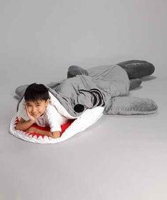 Shark Sleeping Bags | 42 Awesome Kid Things That Adults Secretly Wish They Could Have