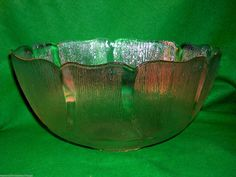 "SUPERB VINTAGE RETRO FRENCH ""FLEUR CLEAR GLASS PUNCH WEDDING PARTY BOWL + 8 CUPS 