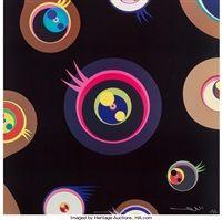 Jellyfish Eyes 1, 2, 3 by Takashi Murakami