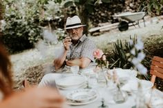 Lush floral elopement on the meadow Pinewood Weddings Industrial Wedding, Panama Hat, Lush, Real Weddings, Wedding Decorations, Couples, Hats, Floral, Artist