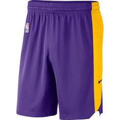 Men s Los Angeles Lakers Nike Purple Performance Practice Shorts c0b49704066f