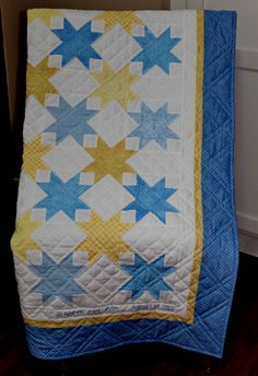Benjamin's Quilt by Rhonda Byrd. Hand quilted