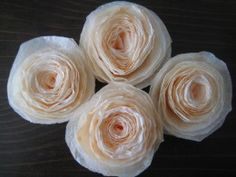Rolled Coffee Filter Roses