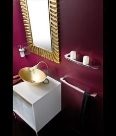 Merveilleux Gold Is An Elegant Accent In A Purple Bathroom. As Much As I Like Purple