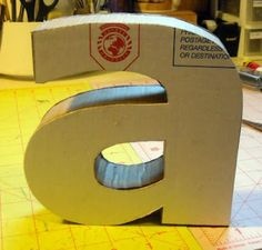 how to make 3D cardboard letters
